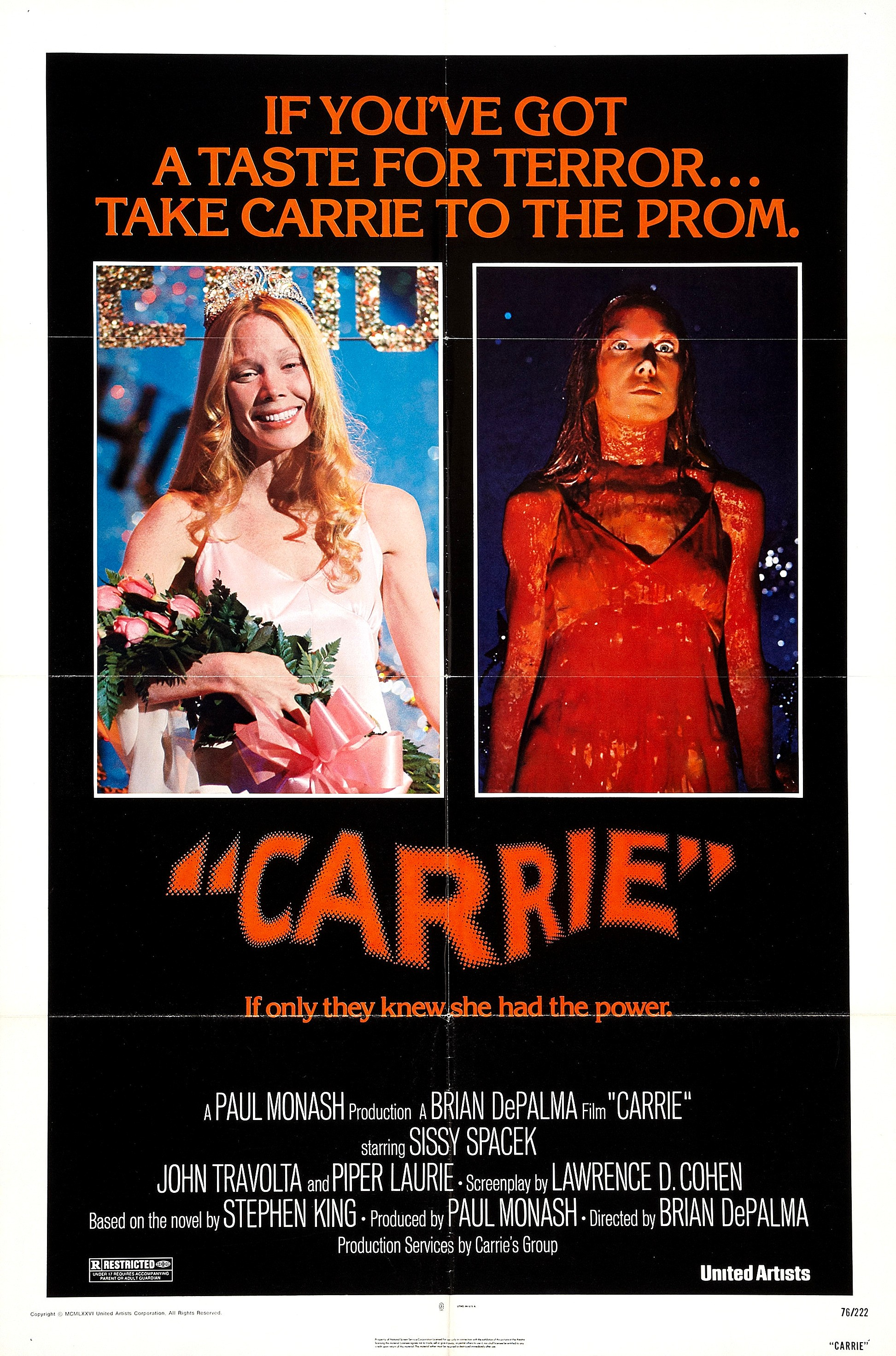 Carrie 1976 70s Rewind Brian De Palma S Carrie In Pictures And Posters