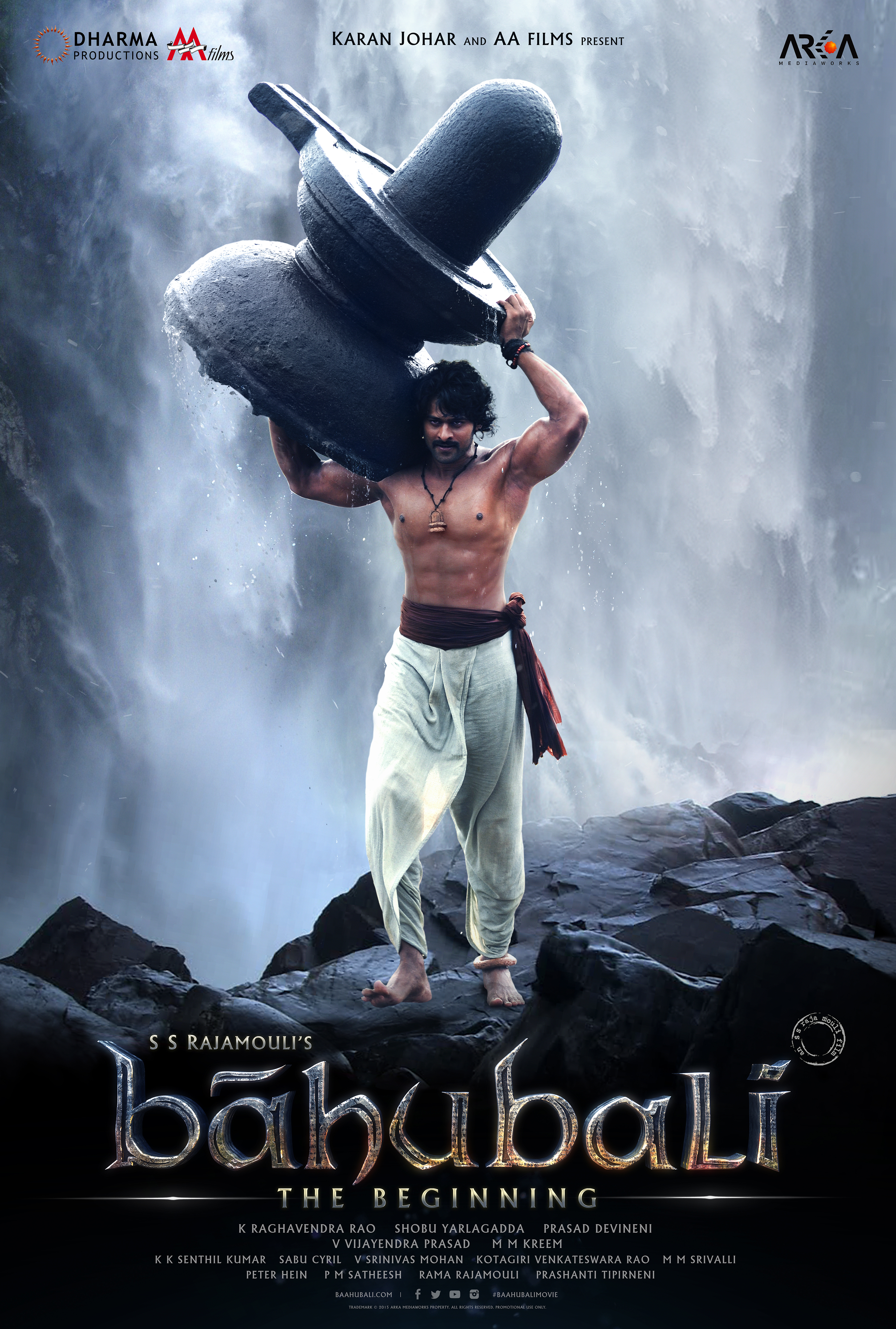 baahubali's second poster reveals prabhas as shivudu