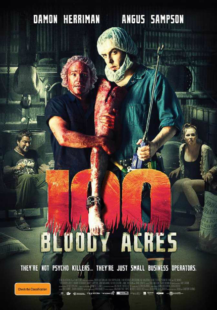 100 BLOODY ACRES Shreds Key Art