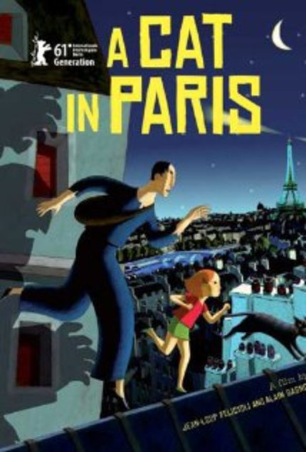 Review: A CAT IN PARIS (Une vie de chat) is Darkly Drawn Fun