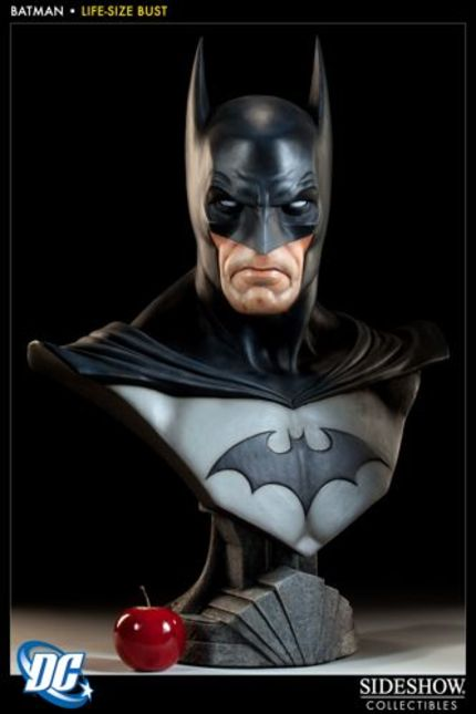 SIDESHOW COLLECTIBLES busts out with LIFE-SIZE BATMAN BUST
