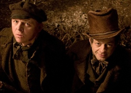 John Landis Compliments Simon Pegg's Arse In New BURKE AND HARE Clip