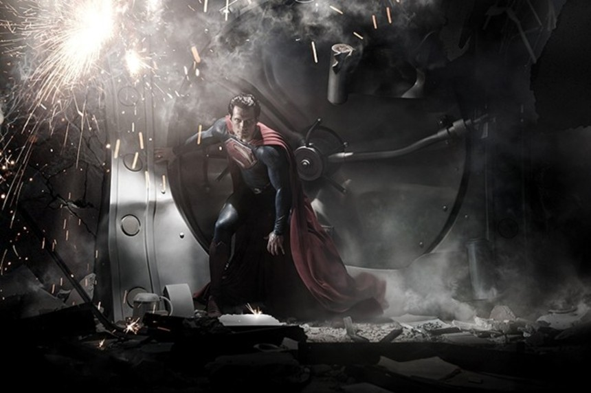 Is The New Superman Meant To Look Like A Design School Photoshop Project?