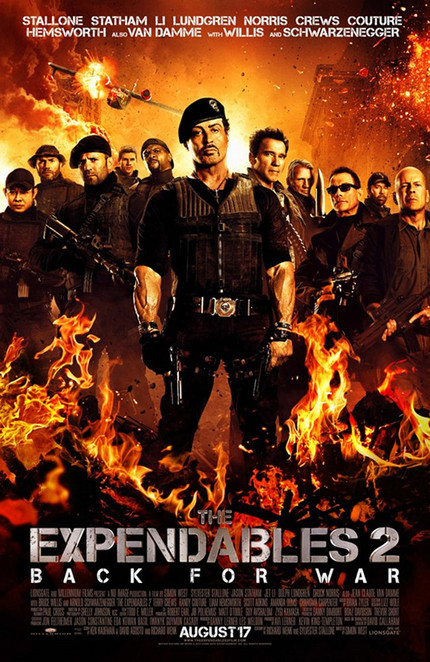 Final EXPENDABLES 2 Poster Is On Fire
