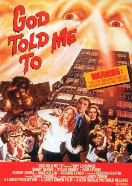 FREE Chicago Double Feature MAY 3. LARRY COHEN to Present New Film and rare screening of seventies horror classic GOD TOLD ME TO.