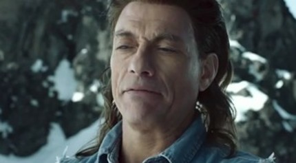 Jean Claude Van Damme's Pants Have Frozen. Frozen Hard. So Tight.