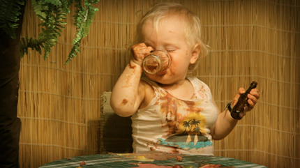 A Drunk Baby Trashes A Bar...