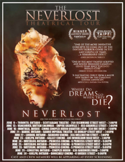 ScreenAnarchy Exclusive: Sneak Peek For Chad Archibald's NEVERlost