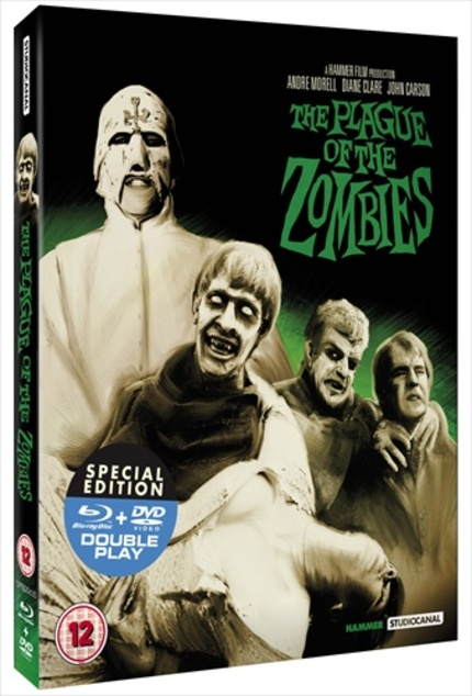 Hammer Restorations continue with Double Play discs of THE PLAGUE OF THE ZOMBIES and THE REPTILE
