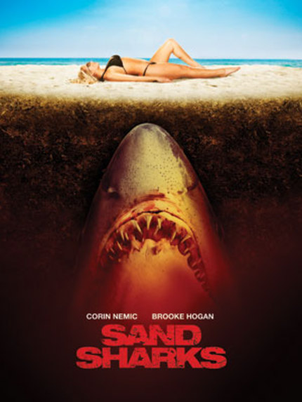 Brooke Hogan And Corin Nemec Will Be Eaten By SAND SHARKS! First Trailer Online Now!