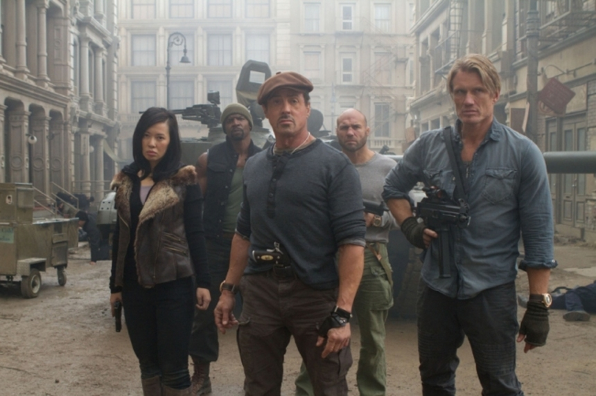 Statham, Crews, Couture And Lundgren!  Two New Images From THE EXPENDABLES 2