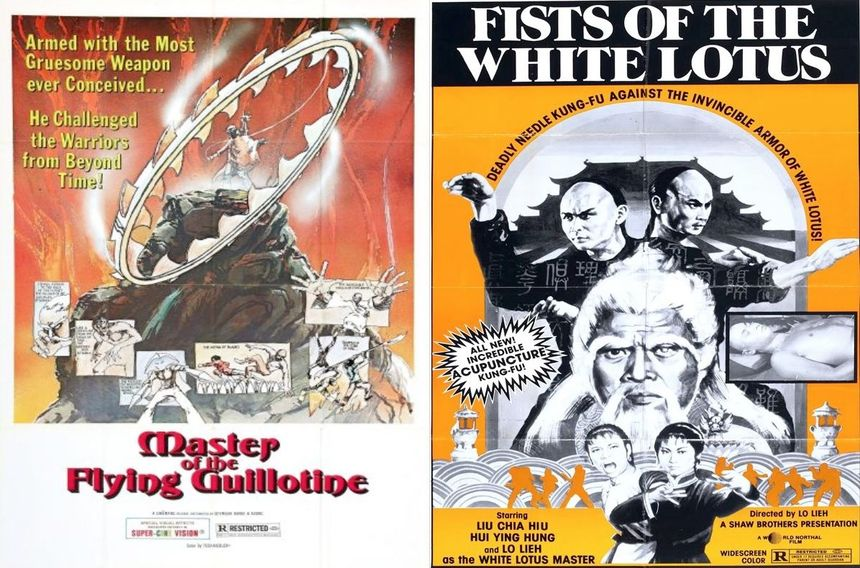 CHICAGO gets rare 35mm screenings of MASTER OF THE FLYING GUILLOTINE and FIST OF THE WHITE LOTUS!! June 1.