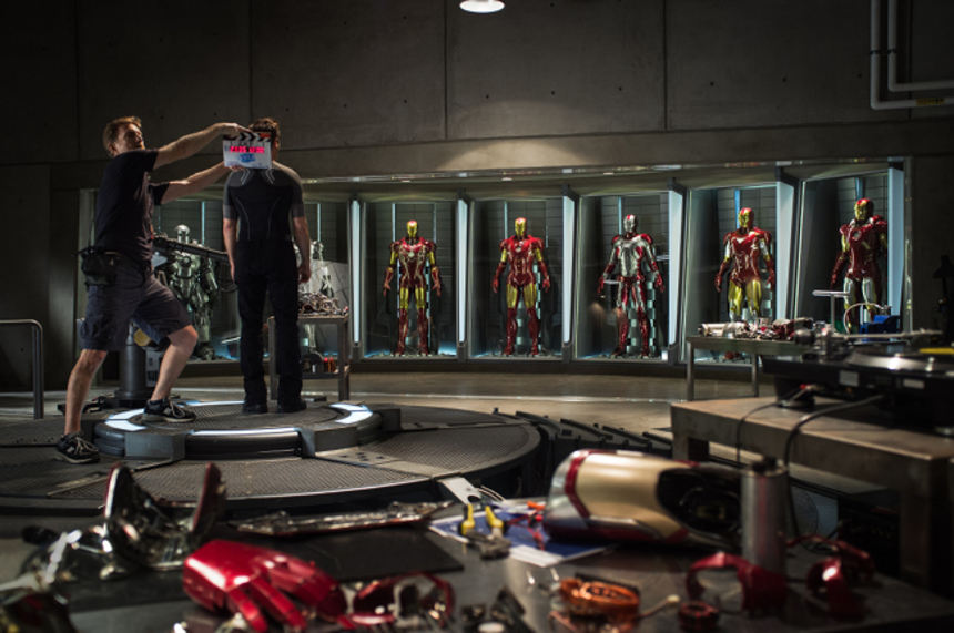 First Official Shot From Set Of IRON MAN 3