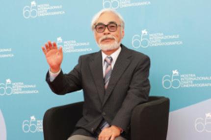 Hayao Miyazaki at the 65th Venice Film Festival