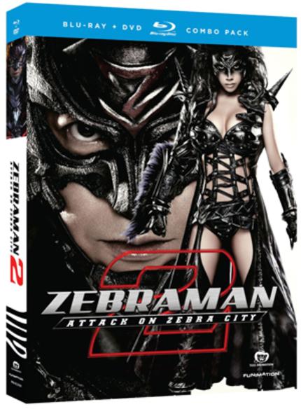 THANKSGIVEAWAY #1: ZEBRAMAN 2 Blu-ray/T-shirts From Funimation!