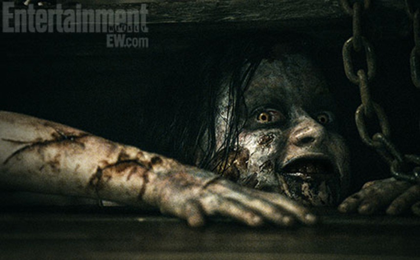 Don't Say It. Don't Write It. Don't Hear it. But Watch It! Red Band EVIL DEAD Trailer!