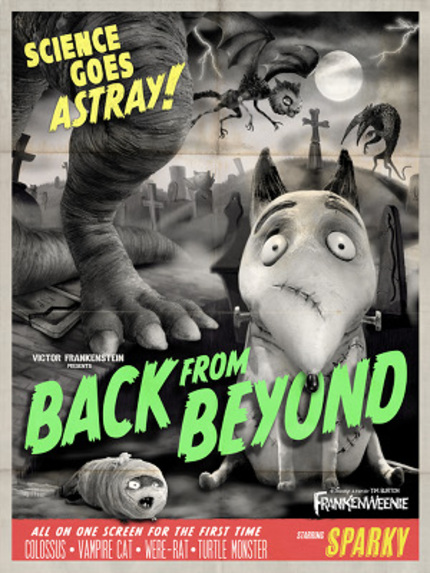 Stroke Pure Evil! New FRANKENWEENIE Monster Posters Unveiled