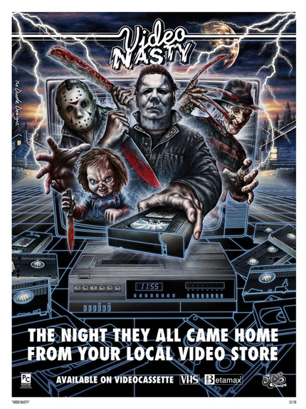 Get Nasty This Halloween With The Dude Designs' VIDEO NASTY Limited Edition Print!