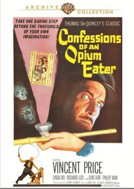 Now On DVD: Vincent Price In A Pair Of Rarities From Warner Archive, CONFESSIONS OF AN OPIUM EATER and THE LAS VEGAS STORY