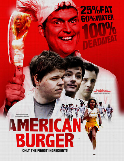Are You Hungry For An AMERICAN BURGER? Made With 100% Dead Meat.