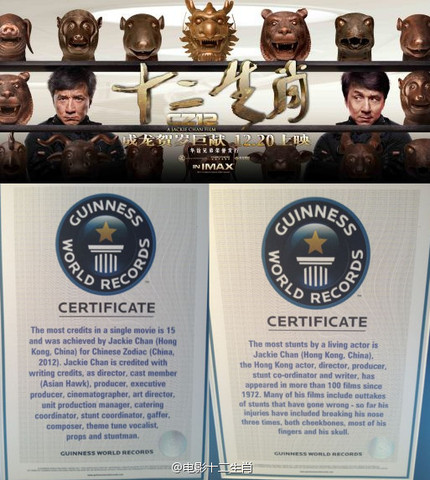 Jackie Chan Sets Guinness World Record For Most Credits In CHINESE ZODIAC