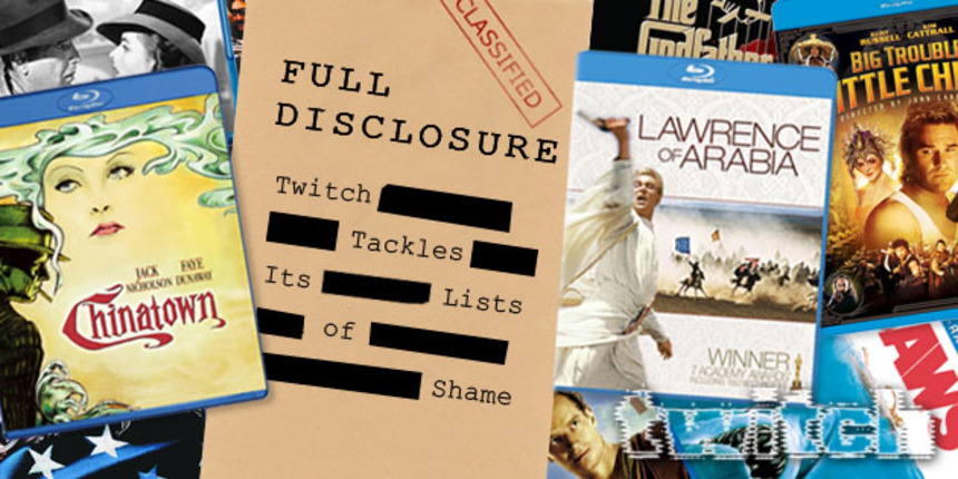 Full Disclosure: ScreenAnarchy Tackles Its Lists Of Shame (A New Year's Resolution)