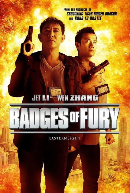 First Poster For Cop Thriller BADGES OF FURY Has Jet Li Packing Heat