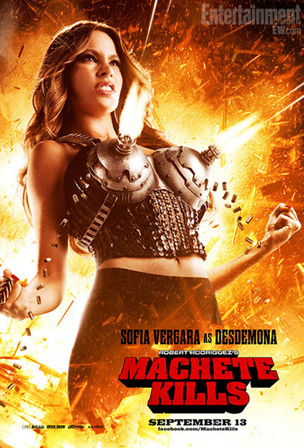 Bang, Bang. Sofia Vergara's Wardrobe Dominates New MACHETE KILLS Poster.