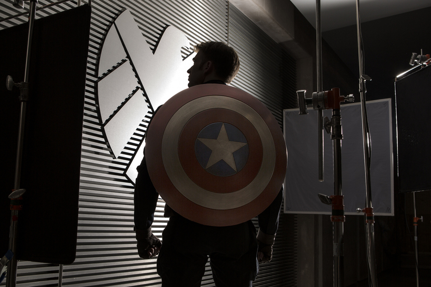 CAPTAIN AMERICA: THE WINTER SOLDIER Launches Production. Chris Evans Strikes Appropriate Pose.
