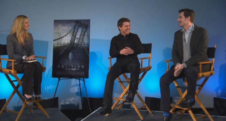 Hollywood Beat: Tom Cruise and Joseph Kosinski Talk OBLIVION Via Satellite And In IMAX