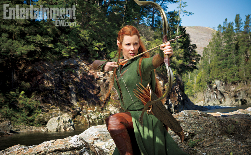 First Shot Of Evangeline Lilly As Tauriel In THE HOBBIT