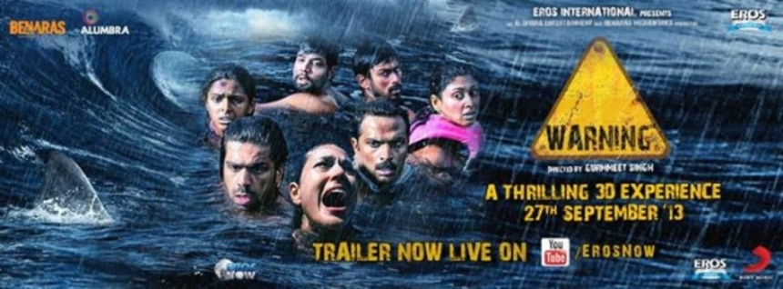 Shark Attack Movies Sell Everywhere: Trailer For Bollywood's WARNING 3D