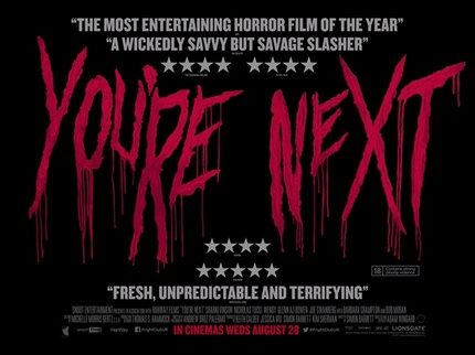 The Writing's On The Wall In The UK Quad Poster for YOU'RE NEXT