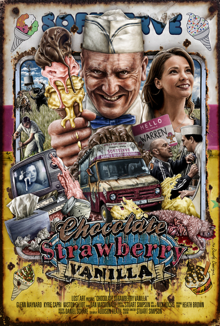 Check Out The Tom Hodge Designed Poster For Stuart Simpson's CHOCOLATE STRAWBERRY VANILLA