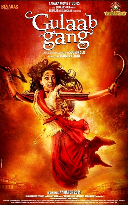 Madhuri Dixit Leads The GULAAB GANG To Bloody Vengeance In This First Look Poster
