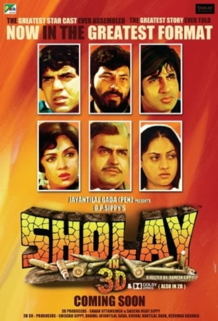Bollywood's Greatest Adventure Returns To The Big Screen With SHOLAY 3D In January 2014!