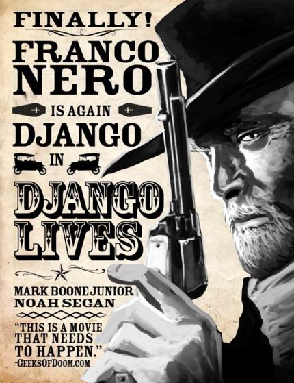 Tarantino Editor Directing Franco Nero In DJANGO LIVES