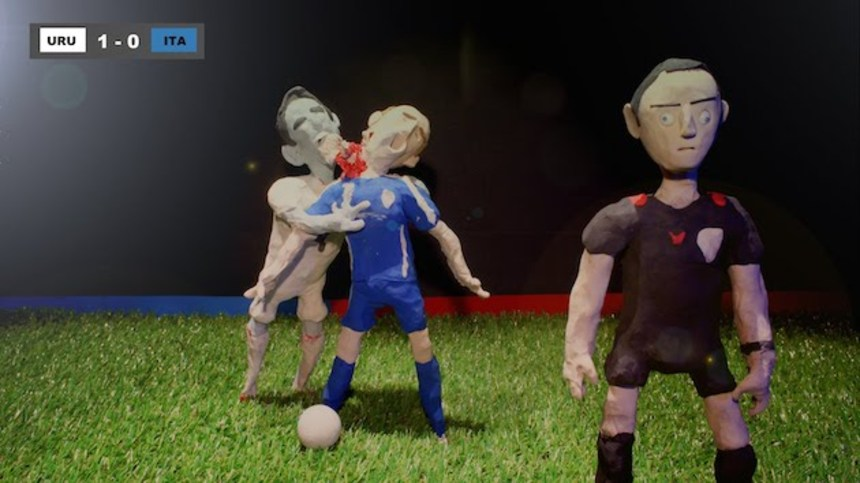 Uruguay's Luis Suarez Bites In New Lee Hardcastle Claymation