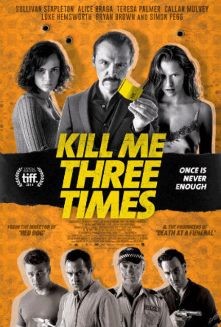 Check Out Simon Pegg In This Animated Poster For KILL ME THREE TIMES
