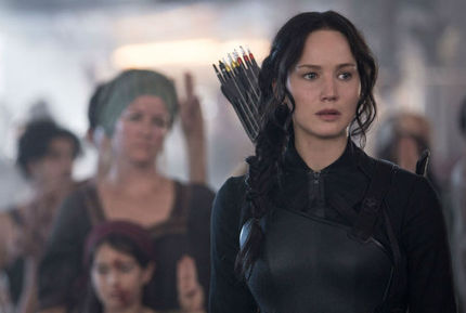 Opening: THE HUNGER GAMES: MOCKINGJAY - PART 1, Super-Sized But Far From Filling