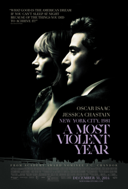 A MOST VIOLENT YEAR: Watch Oscar Isaac And Jessica Chastain In First, Searing Clip