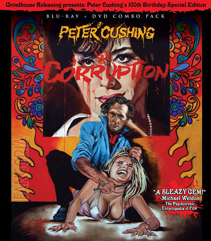 Now On Blu-Ray: Peter Cushing In CORRUPTION From Grindhouse Releasing