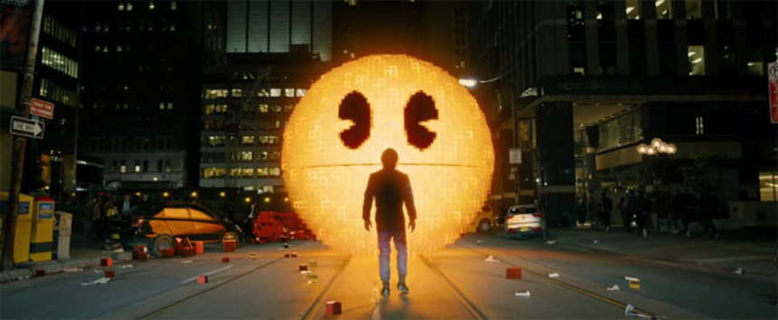 PIXELS: Pac-Man's A Bad Guy In First Trailer?