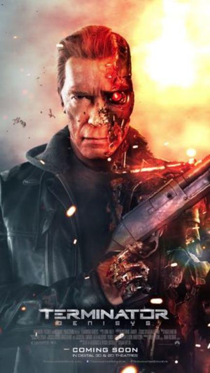 TERMINATOR GENISYS Living Poster Makes Schwarzenegger's Head Explode