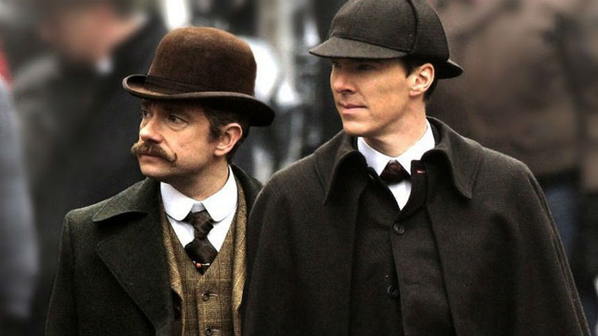 New-School SHERLOCK Gets An Old-School Special. Take A Look At The First Scene!
