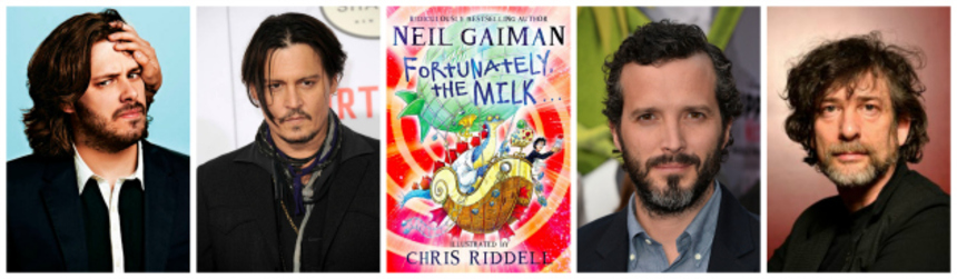 Edgar Wright And Johnny Depp Board Adaptation Of Gaiman's FORTUNATELY, THE MILK