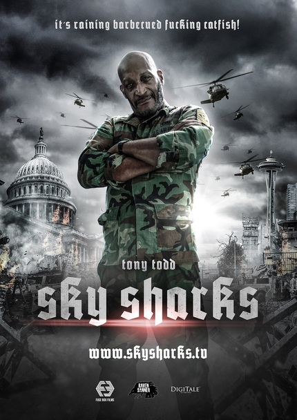 SKY SHARKS: It's Raining What Now In Tony Todd's Character Poster?