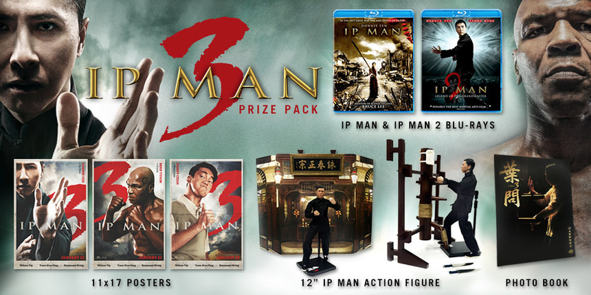 Hey, Fight Fans! Win An Amazing IP MAN 3 Prize Pack!
