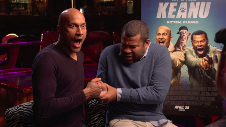 Interview: Key & Peele Talk KEANU And Cats, Thumb Wrestle, And Riot Over Wacky Shirts