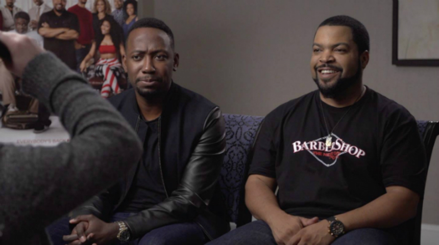 BARBERSHOP: THE NEXT CUT Interview: Ice Cube, Lamorne Morris Talk Haircuts, Blending Fiction With Reality And More
